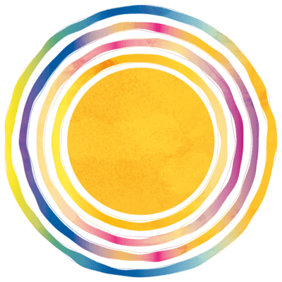 Rainbow Circle Graphic for Kinderfli Ignite Book about Parenting Neurodiverse Children